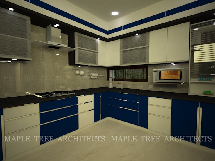 Mr.Rajesh Residence: modern Kitchen by MAPLE TREE