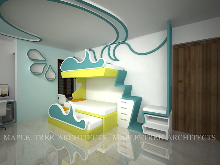 Mr.Rajesh Residence:  Bedroom by MAPLE TREE