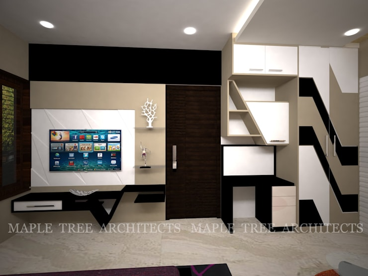 Mr.Rajesh Residence: modern Bedroom by MAPLE TREE