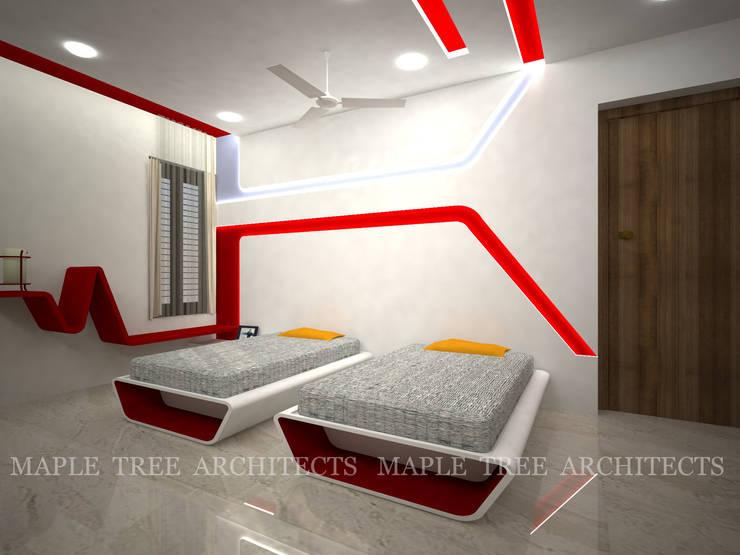 Mr.Rajesh Residence:  Nursery/kid's room by MAPLE TREE