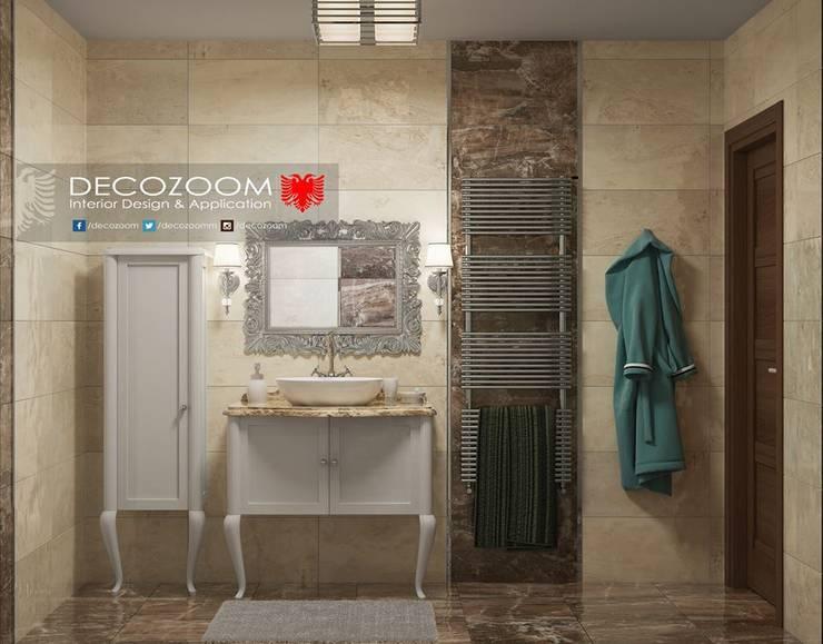 DECOZOOM INTERIOR DESIGN – Banyo:  tarz , Kırsal/Country Ahşap Ahşap rengi