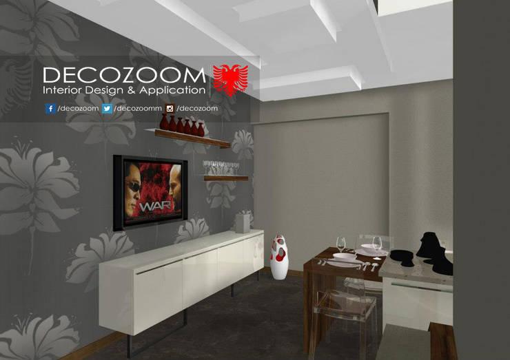 DECOZOOM INTERIOR DESIGN – Mutfak Yemek ve Tv bölümü: modern tarz Mutfak
