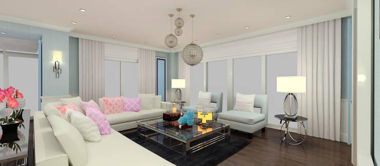 Kerim Çarmıklı İç Mimarlık – F.G. EVİ:  tarz Oturma Odası