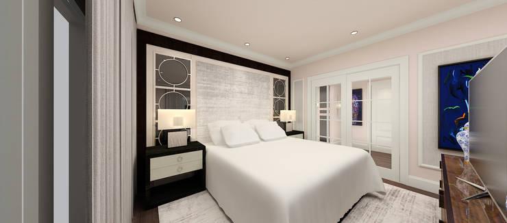 Kerim Çarmıklı İç Mimarlık – F.G. EVİ:  tarz Yatak Odası