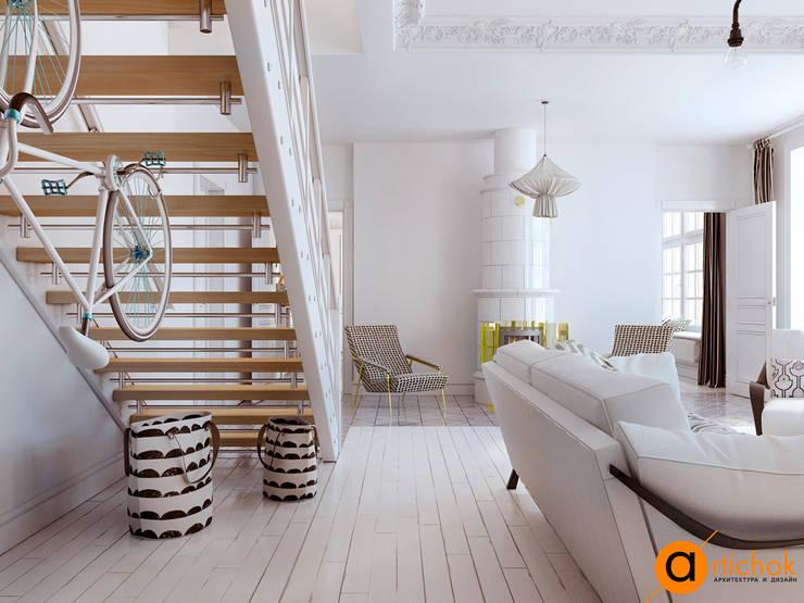 Salas de estilo escandinavo por Art-i-Chok
