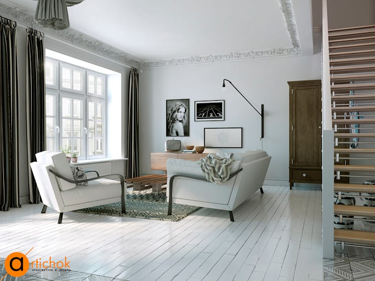 Salas de estar escandinavas por Art-i-Chok