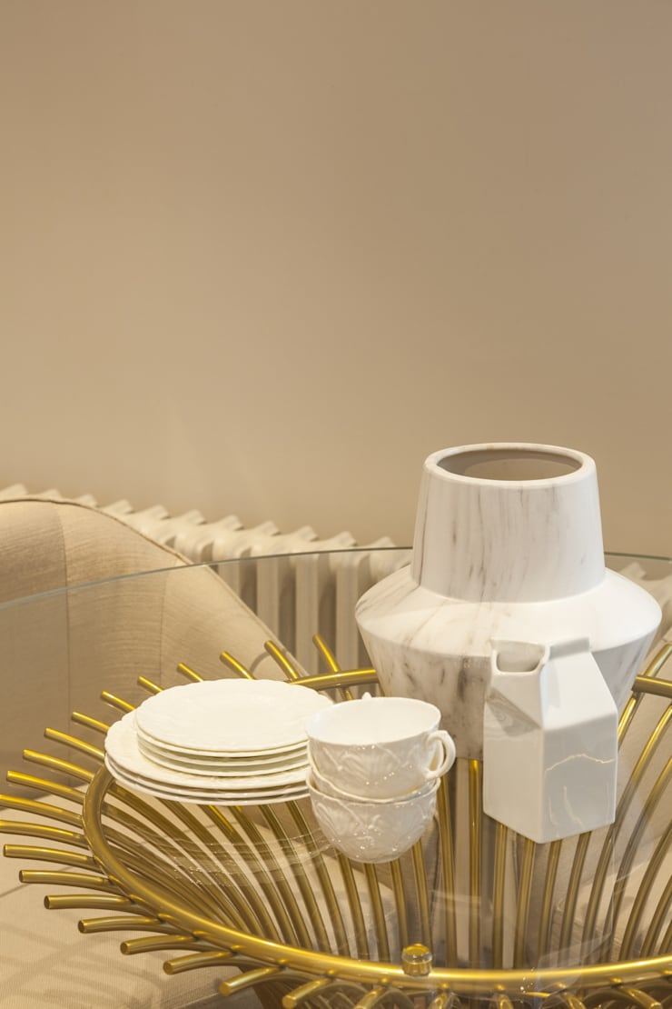 Londres . Interdesign: Sala de jantar  por Interdesign Interiores