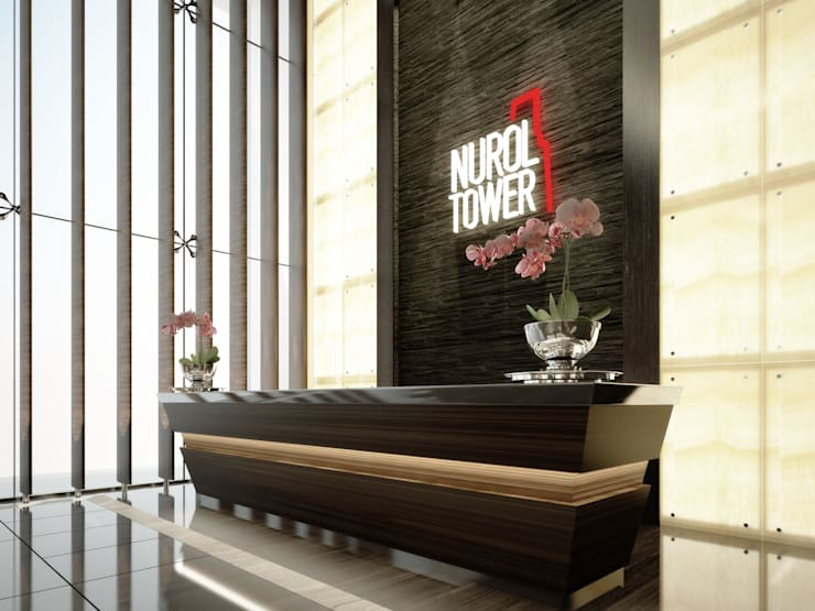 Kerim Çarmıklı İç Mimarlık – NUROL TOWER LOBİ:  tarz