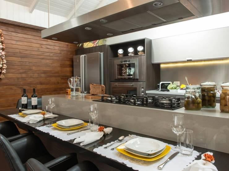 Projeto MF Interiores - Cozinha Gourmet: Cozinhas  por MF Interiores