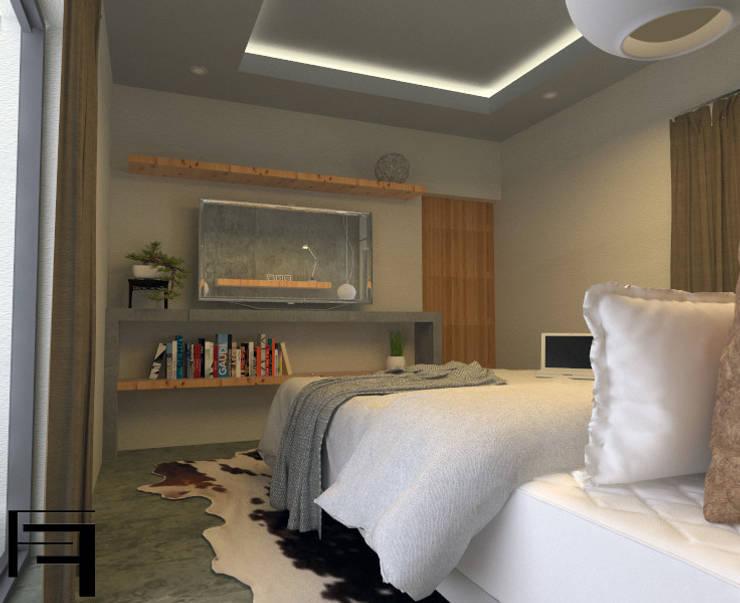 Dormitorio matrimonial: Dormitorios de estilo  por ARQ. María Florencia Fernández