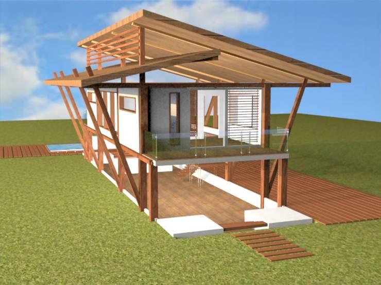 CASA LA LEY/ VALLEDUPAR COLOMBIA: Casas de estilo rústico por SIMETRIC ARQUITECTURA INTERIOR