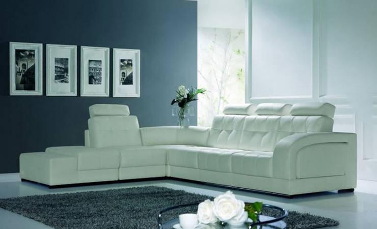 Sofás de canto Corner sofas: Sala de estar  por Intense mobiliário e interiores;