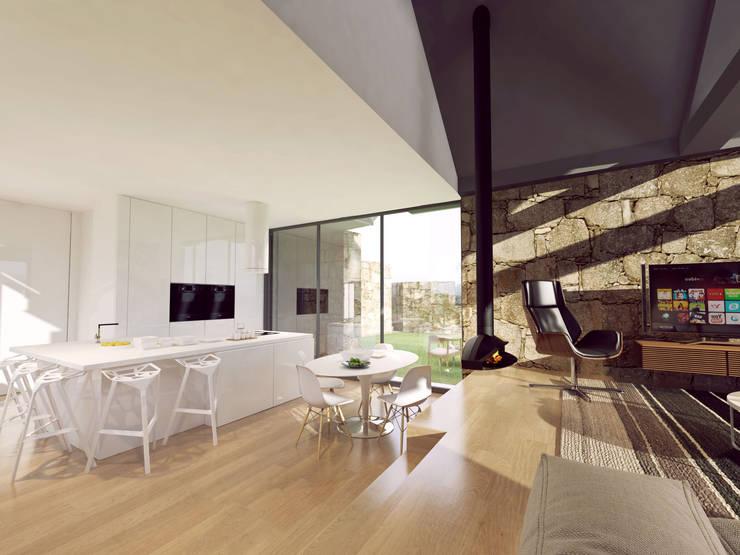 Comedores de estilo  por Davide Domingues Arquitecto