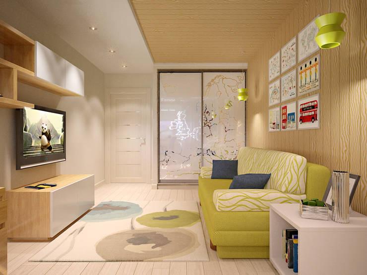 Двухуровневая квартира в Подмосковье: Детские комнаты в . Автор – EEDS design