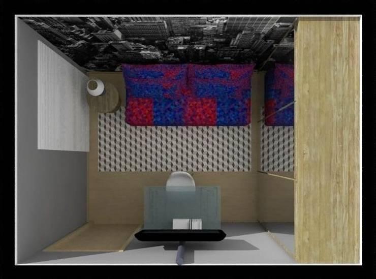 Dormitório Jovem MP: Quartos  por Nádia Catarino - Arquitetura e Design de Interiores