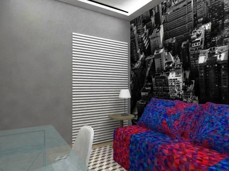 Dormitório Jovem MP: Quartos  por Nádia Catarino - Arquitetura e Design de Interiores,