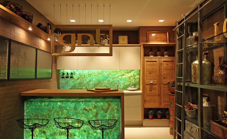 Área Gourmet GNT: Cozinha  por Treselle Móveis,