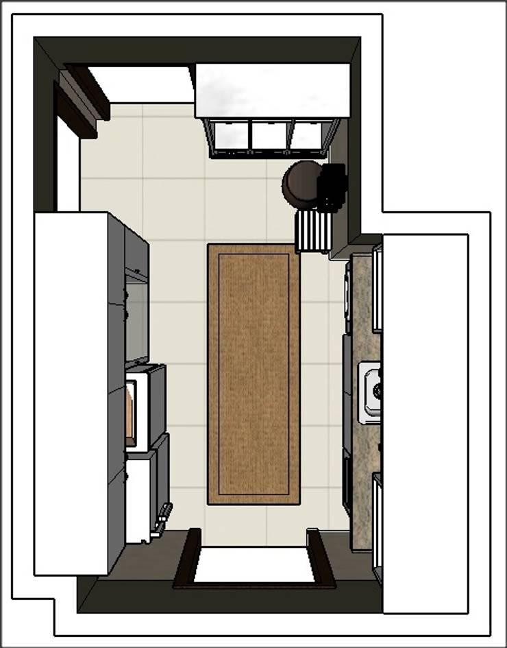 PROYECTO - Lavadero y Entrada de Servicio: Pasillos y recibidores de estilo  por PLATZ