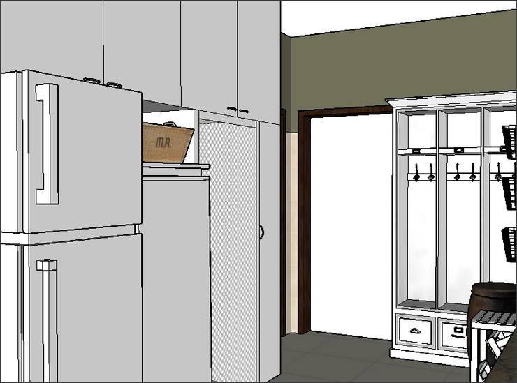 PROYECTO – Lavadero y Entrada de Servicio: Pasillos y recibidores de estilo  por PLATZ