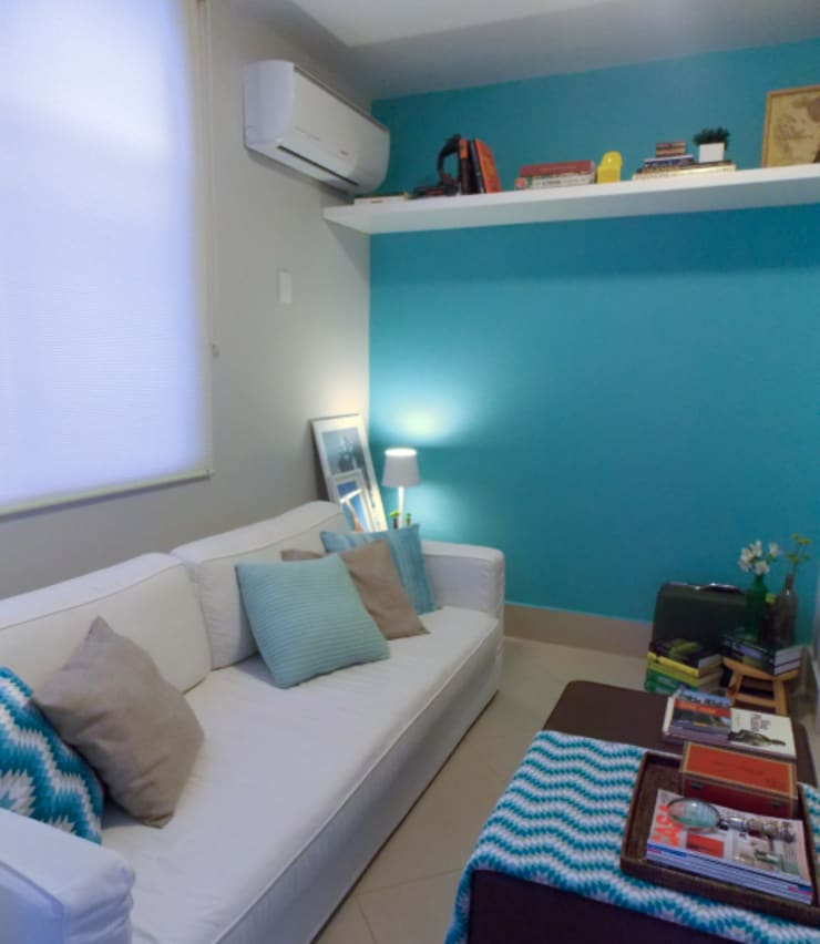 Apartamento Leblon II: Salas multimídia  por Duplex Interiores
