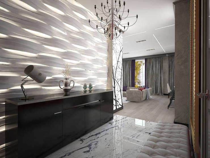 Трехкомнатная квартира в Москве: Коридор и прихожая в . Автор – Decor&Design