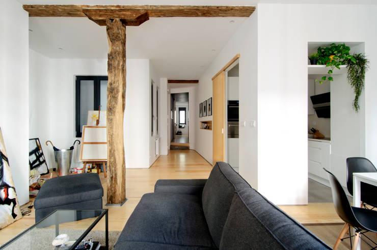 Гостиная в . Автор – Garmendia Cordero arquitectos