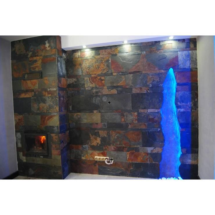 Łupek Multicolor cięty : styl , w kategorii Ściany i podłogi zaprojektowany przez Kamienie Naturalne Chrobak