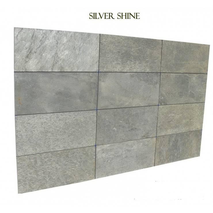 Kwarcyt Silver Shine Natural : styl , w kategorii Ściany i podłogi zaprojektowany przez Kamienie Naturalne Chrobak