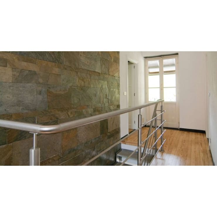Kwarcyt Jerra Green : styl , w kategorii Ściany i podłogi zaprojektowany przez Kamienie Naturalne Chrobak