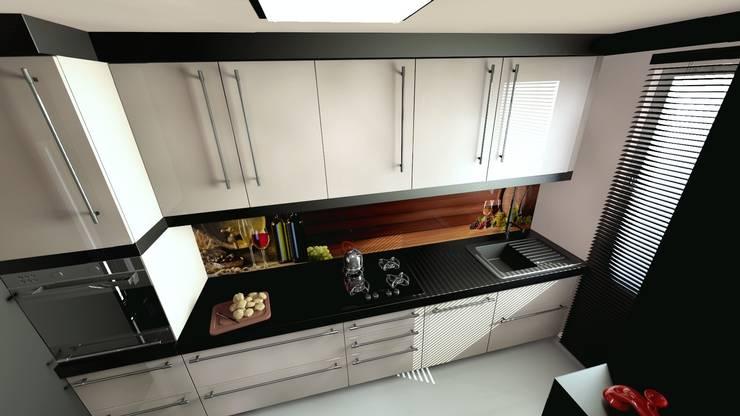 Mała kuchnia w stylu nowoczesnym: styl , w kategorii Kuchnia zaprojektowany przez Archonica