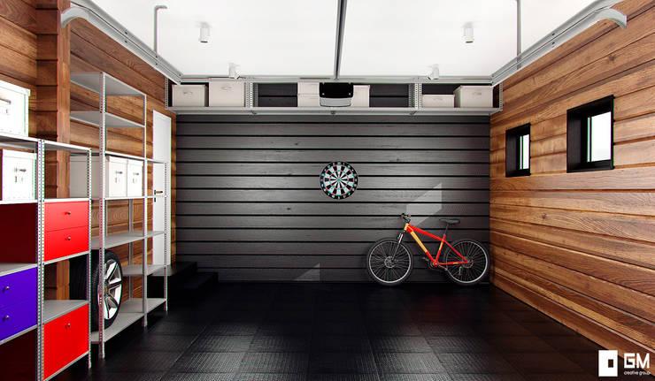 Garajes de estilo  de GM-interior