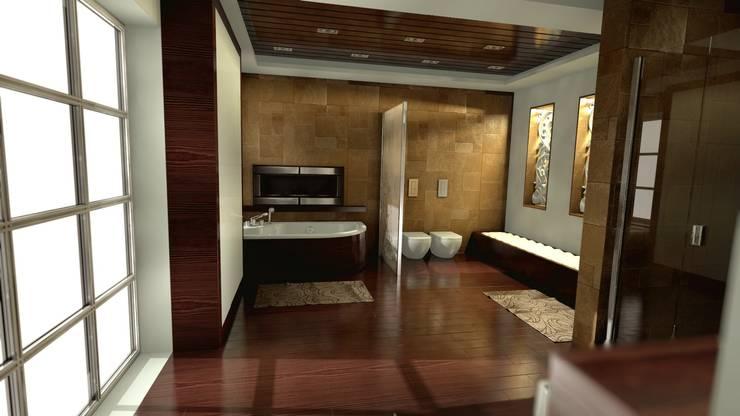 Łazienka w stylu nowoczesnym: styl , w kategorii Łazienka zaprojektowany przez Archonica,Nowoczesny