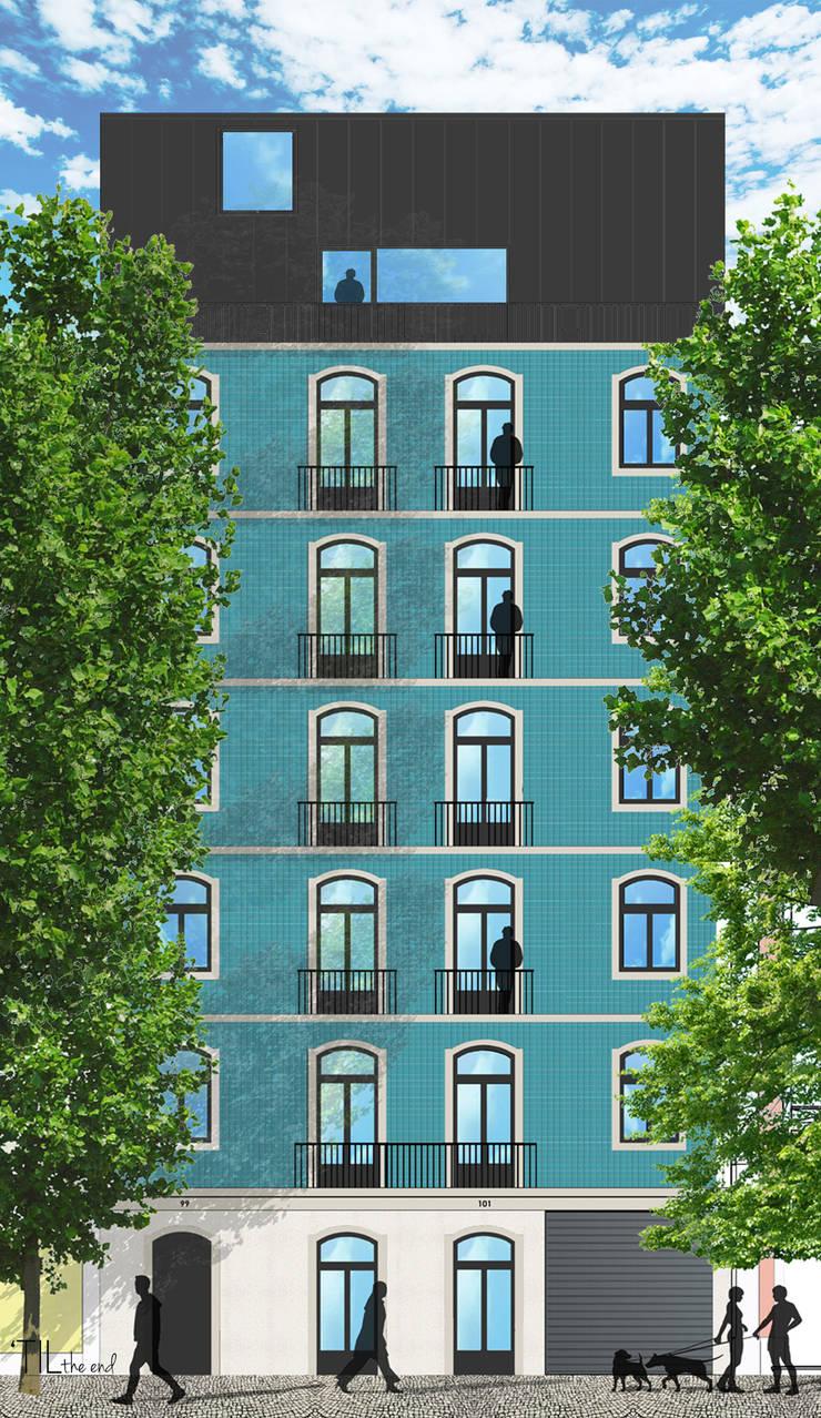 Residential building in Lisbon 2: Casas  por Lagom studio
