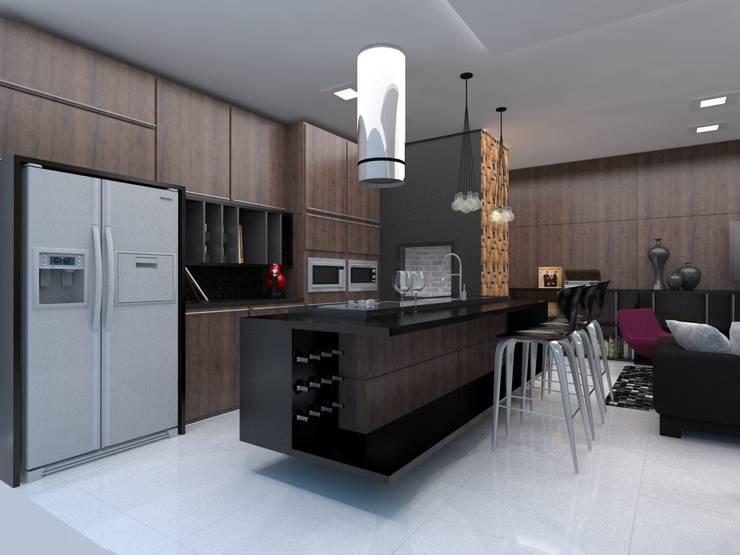 Projeto de Interiores _APTO 01: Cozinha  por Cíntia Schirmer | Estúdio de Arquitetura e Urbanismo