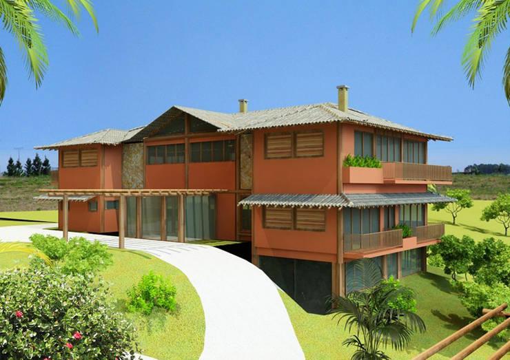 RESIDÊNCIA JM Casas rústicas por MADUEÑO ARQUITETURA & ENGENHARIA Rústico