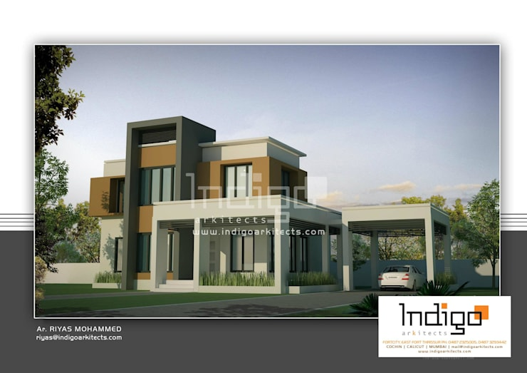 Residential projects:  Houses by Indigo Arkitects,Modern