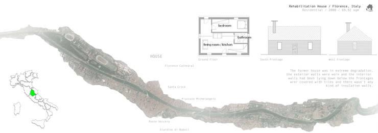 Localização e Planta da antiga habitação:   por Sara Santos Arquitecta