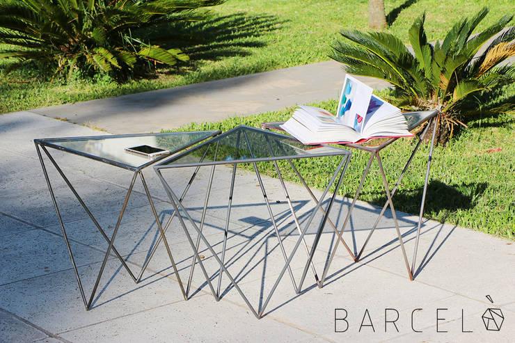 Mesa Ratona GRACIA: Livings de estilo  por Barcelò. diseño en hierro