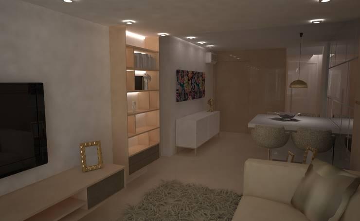 Tridimensionalidade: Sala de estar  por Sara Santos Arquitecta