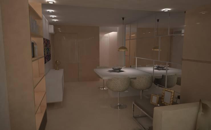 Tridimensionalidade: Sala de jantar  por Sara Santos Arquitecta