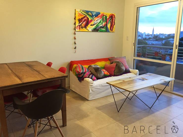 Mesa Ratona BARCELONETA: Livings de estilo  por Barcelò. diseño en hierro