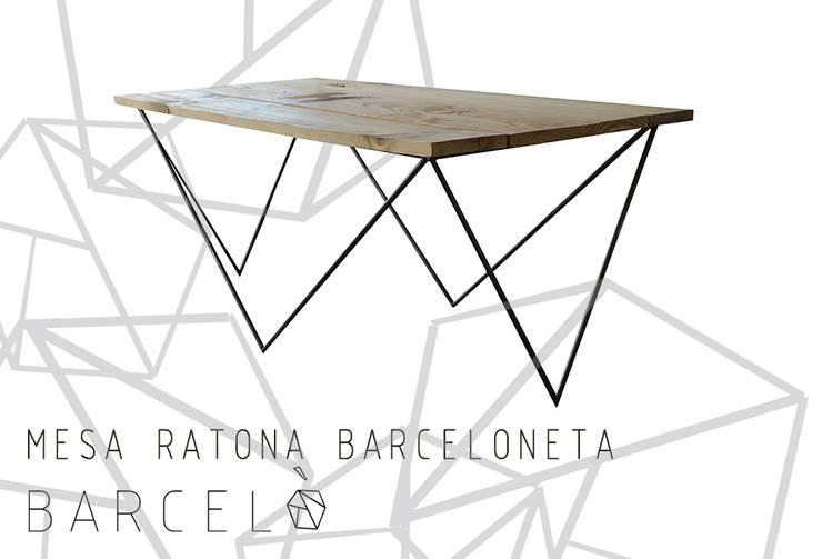 Mesa Ratona BARCELONETA: Livings de estilo  por Barcelò. diseño en hierro,