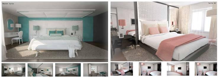 Arquitectura de interiores apartamento, Praça de Espanha, Portugal: Quartos  por Sara Santos Arquitecta