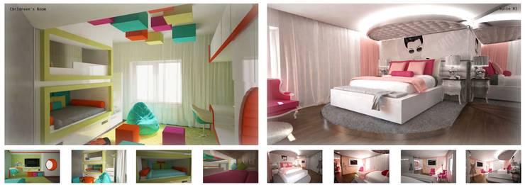 Arquitectura de interiores apartamento, Praça de Espanha, Portugal: Quartos de criança  por Sara Santos Arquitecta