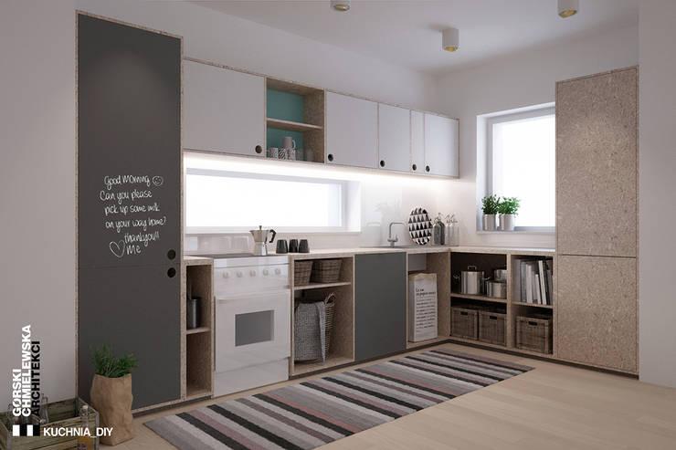 kuchnia DIY: styl , w kategorii Kuchnia zaprojektowany przez GÓRSKI CHMIELEWSKA ARCHITEKCI