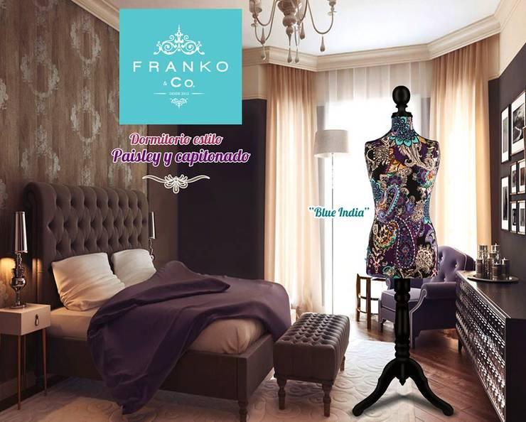 Maniquí decorativo India Blue: Recámaras de estilo  por Franko & Co.