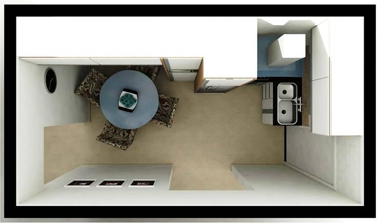 Cozinha HS: Cozinhas  por Nádia Catarino - Arquitetura e Design de Interiores