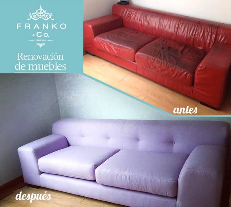 Renovación Sillón: Salas de estilo  por Franko & Co.