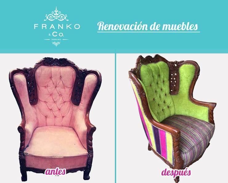 Sillón Green: Salas de estilo  por Franko & Co.