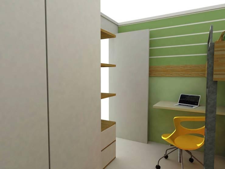 Dormitório Meninos FO Quarto infantil moderno por Nádia Catarino - Arquitetura e Design de Interiores Moderno Madeira Efeito de madeira